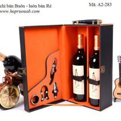 Hộp đựng rượu vang hai ngăn