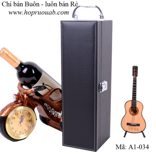 hộp rượu da một ngăn