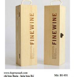 Hộp gỗ đựng 1 chai rượu
