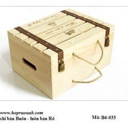 hộp gỗ đựng 6 chai rượu vang