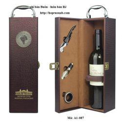 hộp rượu da đơn 1 chai