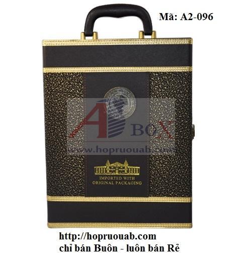 hộp rượu da hai chai A2-096