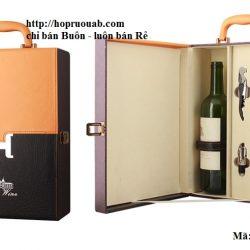 Hộp rượu vang chất liệu da đôi A2-1236