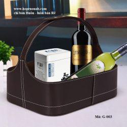 giỏ da đựng quà rượu vang