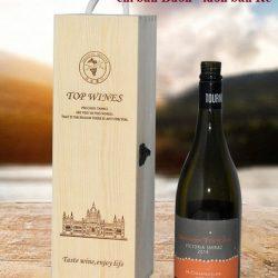 hộp rượu gỗ thông đơn
