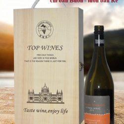 hộp rượu gỗ thông đôi