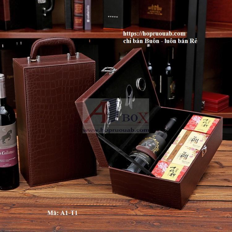 Hộp rượu vang bánh trung thu
