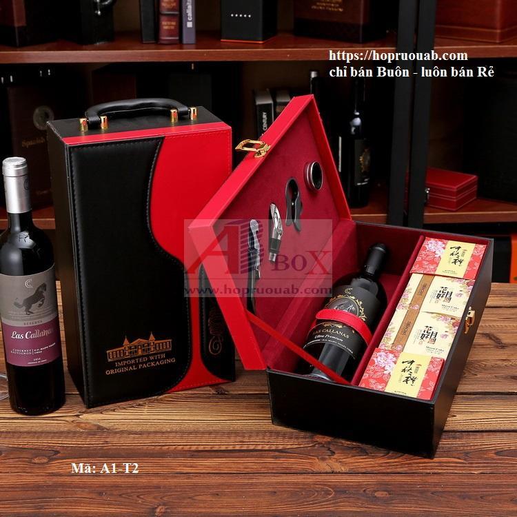 hộp rượu kèm bánh trung thu