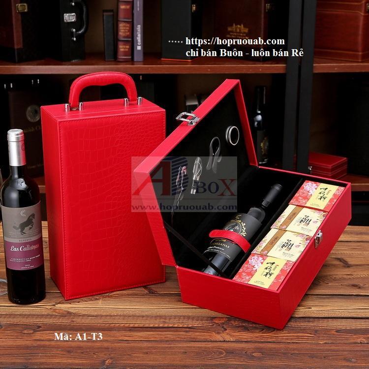 hộp bánh trung thu rượu vang
