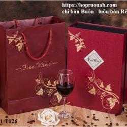 Hộp bánh trung thu kèm rượu vang bằng giấy