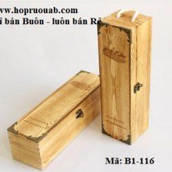 hộp gỗ đơn đựng rượu vang