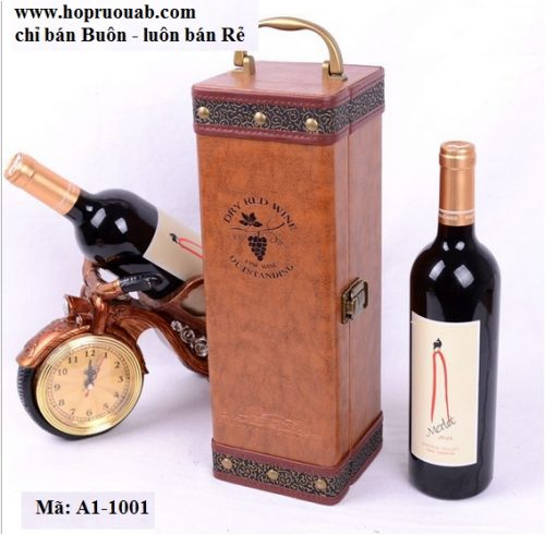 hộp rượu da đơn 1 ngăn