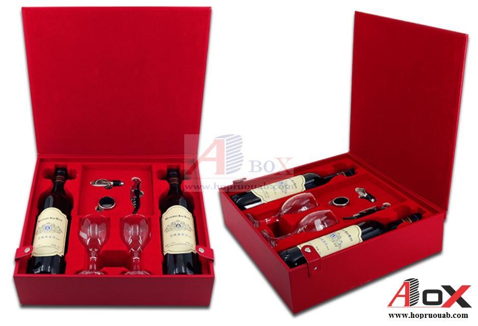 Hộp quà hai chai rượu vang