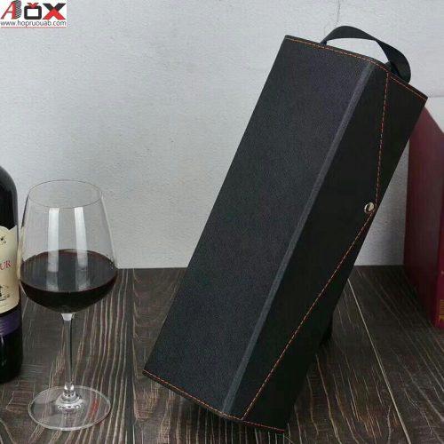 Vỏ rượu vang 1 chai bằng da