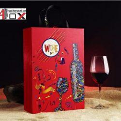 Hộp rượu vang bằng giấy 2 chai
