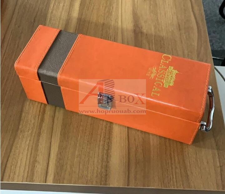 Hộp đựng rượu vang mẫu mới 1 chai A1 2040