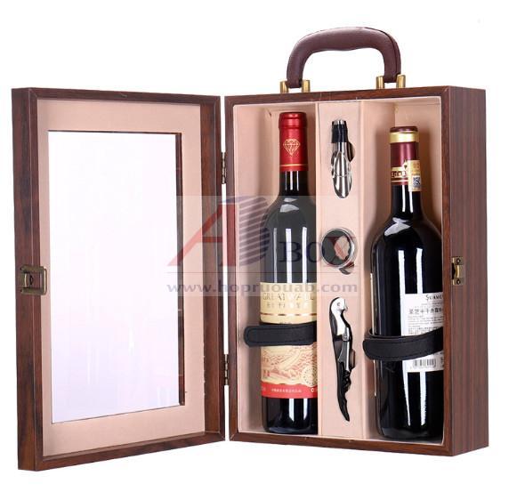 Hộp lộ chai rượu vang bằng gỗ 2