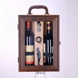 Hộp lộ chai rượu vang bằng gỗ